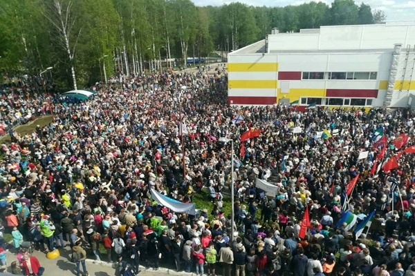 Митинг в Сыктывкаре собрал людей  больше, чем московские марши. Фото